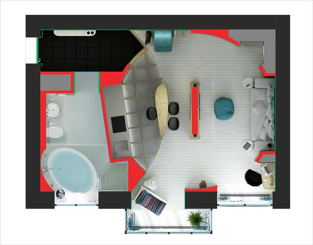 Как обставить однокомнатную квартиру фото дизайн