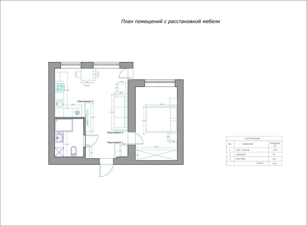 Проекты перепланировки квартир И-209А
