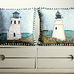 Подушка Lighthouse with sailboat от фабрики Chelsea Textiles.
