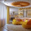 Интерьер гостиной из проекта, реализованного дизайнером интерьера Наталией Васильевой.