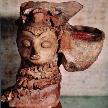 На фото: каменная лампа в форме головы женщины, Мохенджо-Даро, долина Инда, Пакистан, 3000-1500 гг. до н.э