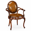 Кресло 492653 Leather upholstered rococo armchair фабрики Jonathan Charles Fine Furniture.