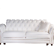 На фото: модель Флоренция большой диван в коже от фабрики Allegro Stile.