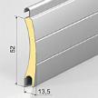 Роллетный алюминиевый профиль с пенозаполнением.