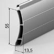 Роллетный алюминиевый экструдированный профиль.