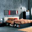 Кровать Salina от компании Flou, дизайн Rodolfo Dordoni.