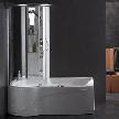 Угловая гидромассажная ванна с душевой кабиной Kellia Combi 170 / 160 от фабрики Albatros.