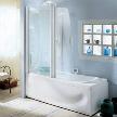Гидромассажная прямоугольная ванна с душевой кабиной 255-269-282 фабрики Teuco.