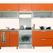Кухонный гарнитур Трапеза-Престиж пластик 2400 мм от фабрики Боровичи-Мебель.