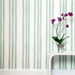 Обои Stripes Cream & Green wallpape фабрики PaperBoy.