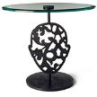 Журнальный столик Naval Brass Glass Top Table фабрики Moooi.