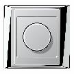 Светорегулятор A plus dimmer chrome-aluminium от фабрики Jung.
