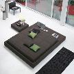кровать Squaring isola от фабрики Bonaldo, дизайн Vigano Giuseppe.