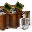 модель 492781 Triple Decanter Set in Conjoined Square Cases от Jonathan Charles Fine Furniture.