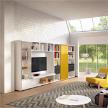Модульная система хранения Mega-Design bookcase + TV stand 02 от Huelsta.