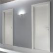 дверь Liscia 1L laccato bianco a poro aperto от Garofoli.