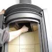 Фото-инструкция по установке металлической печи от фабрики Stuv.
