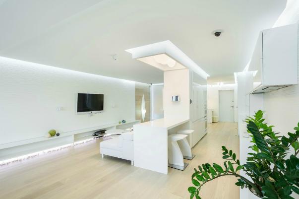 Дизайн гостиной с природным камнем 892