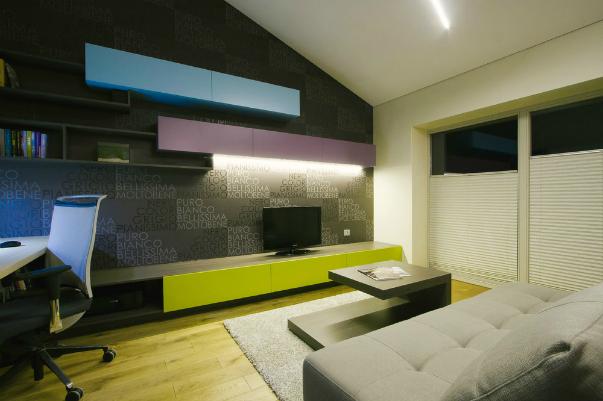 Контраст в дизайне квартиры