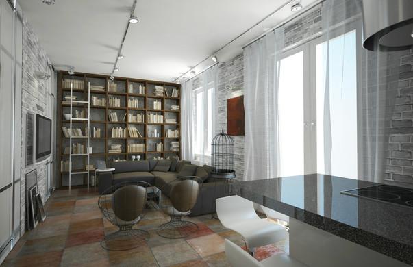 df935c6d3fc25 Фото современного ремонта и дизайна однокомнатной квартиры