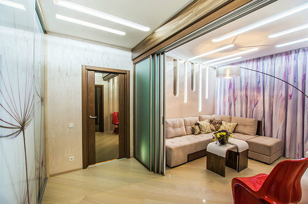 Дизайн проходной комнаты фото