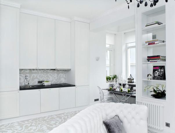 Дизайн цветы на кухне