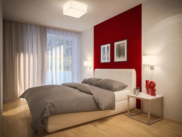 Дизайн спальни дешёвый