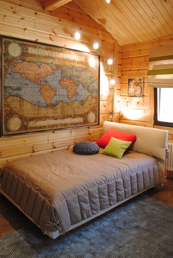 Детская комната дизайн в деревянном доме фото