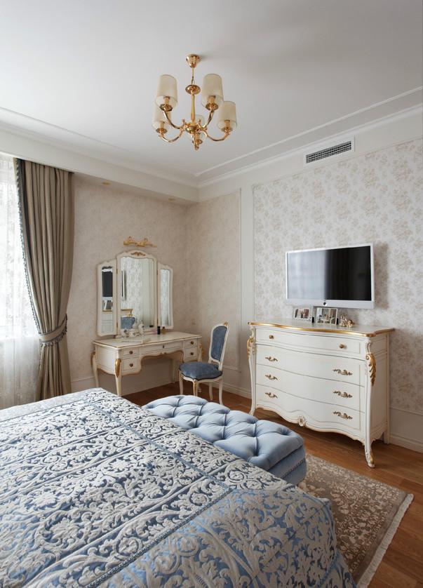 интерьер спальни в светлых тонах фото