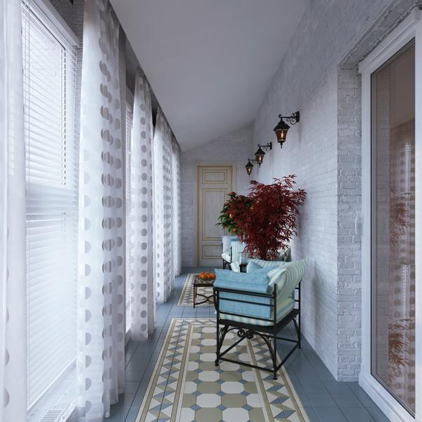 Балкон дизайн длинный