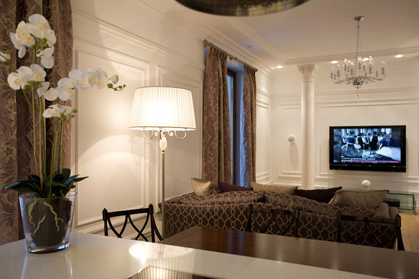 фото современной гостиной классика