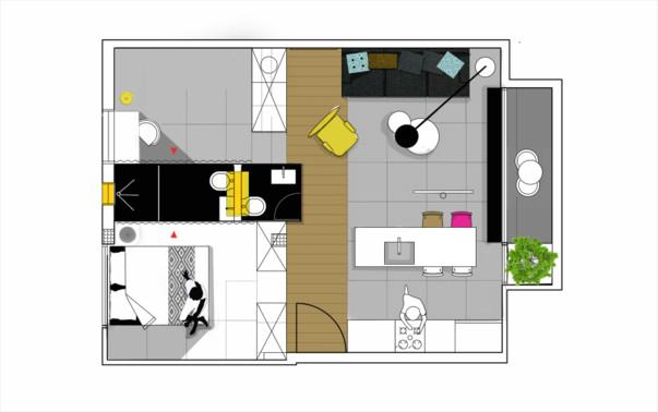 Дизайн квартиры 55 кв м