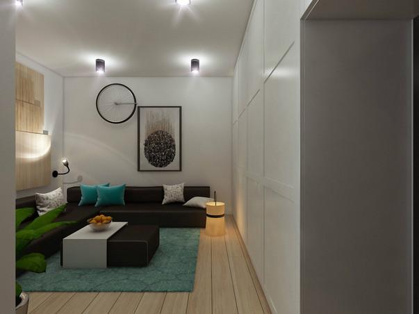 маленькая однокомнатная квартира в скандинавском стиле