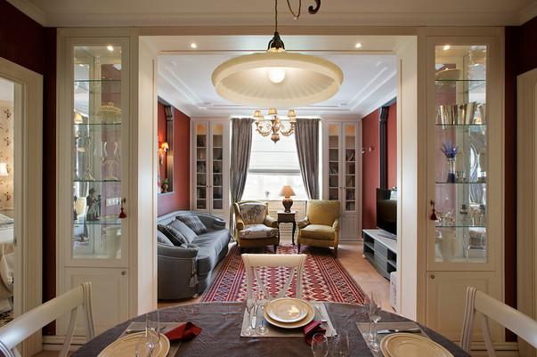 дизайн интерьера кухни столовой гостиной