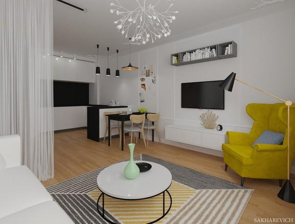 2ab87209ccc0 Минималистичный интерьер для семьи с детьми  дизайнер Яна Сахаревич