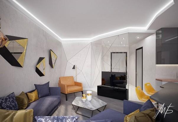 как оформить тв зону в гостиной