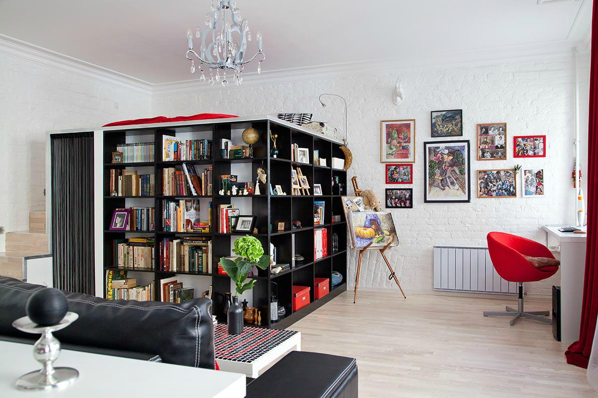 Интерьер однокомнатной квартиры-студии 50 кв. м в Санкт ...: http://www.4living.ru/items/article/sankt-peterburg-kvartira-studiia-50-kv-m/