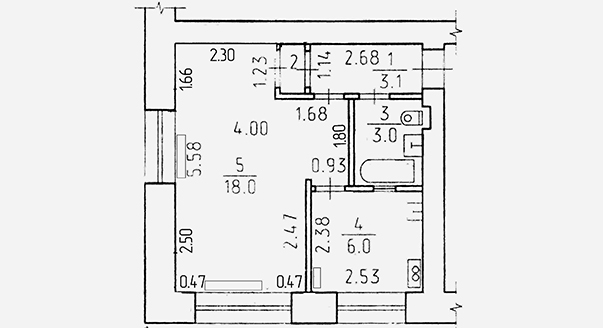 Перепланировка трехкомнатной квартиры в панельном доме
