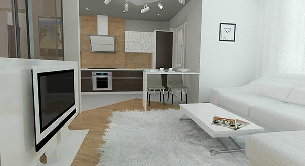 идеи однокомнатной квартиры фото