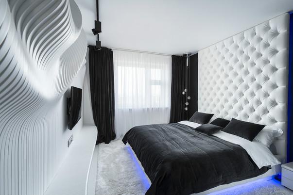 Дизайн спальни с уголком