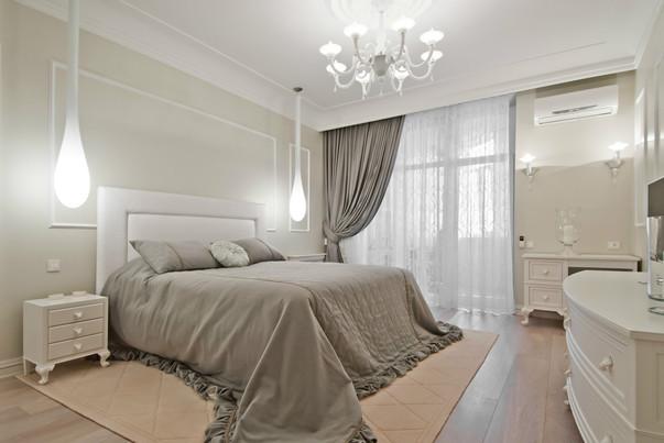 Дизайн спальня светлая