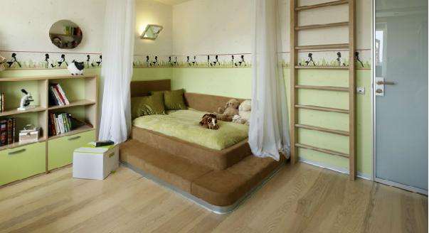 фото зелёная комната