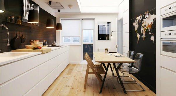 Дизайн кухня-гостиная 50 кв.м
