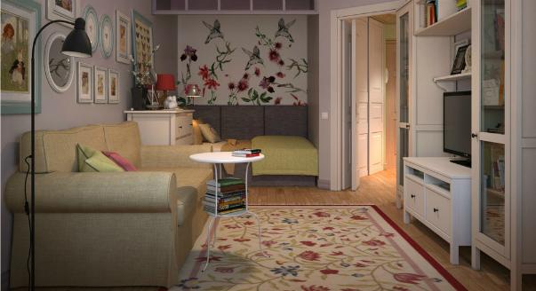 Перепланировка трехкомнатной квартиры панельного дома