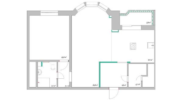 Типовые планировки дома серии И-155МК