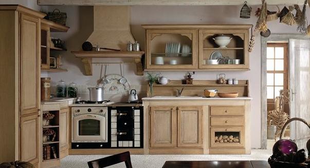 Кухню из массива дуба рустик