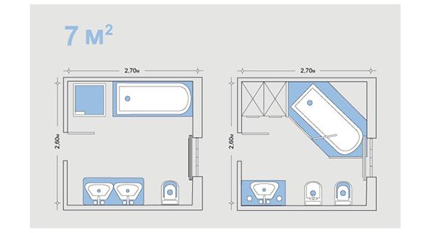 Ванная 7 кв.м дизайн