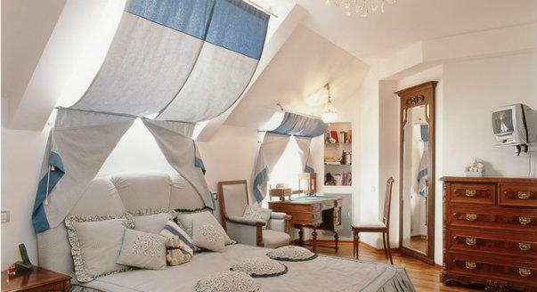 Комната под крышей дизайн