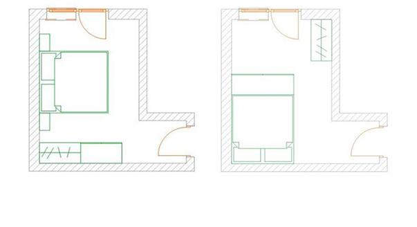 планировки спальни в домах