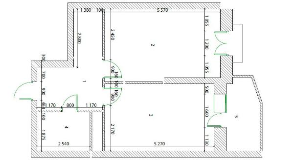 План комнаты без мебели PBA2015000 панель RATTVIK универсальная /150x100/ левая+правая